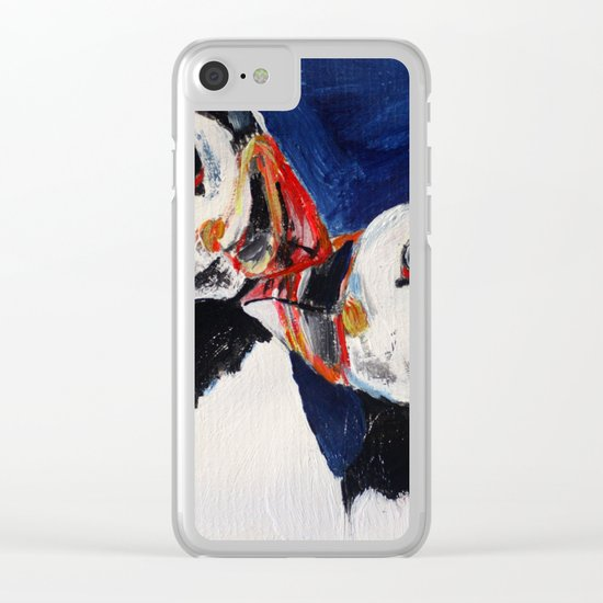 Puffins Clear iPhone Case