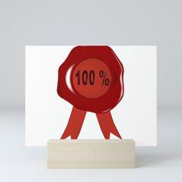 Wax Stamp 100 Percent Mini Art Print