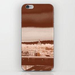 Dublin, Ireland skyline art print - brooding beauty cityscape iPhone Skin