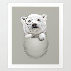 POCKET POLAR BEAR Art Print