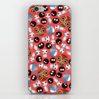 studio ghibli iPhone & iPod Skins featuring Ghibli Pattern by pkarnold + The Cult Print Shop