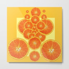 CONTEMPORARY ORANGE SLICES  ABSTRACT MODERN ART Metal Print
