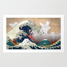 Surfin Japan Art Print
