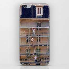 Men On Scaffolding iPhone Skin