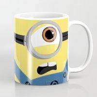 minion Mugs featuring Minion by Janice Wong