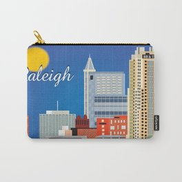 Raleigh, North Carolina - Skyline Illustration by Loose Petals Carry-All Pouch