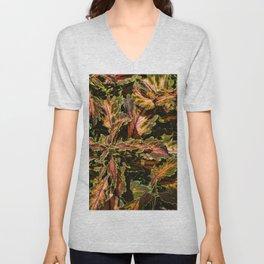 Coleus Foliage Unisex V-Neck