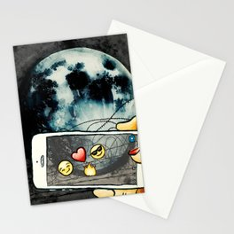 Snapchat the moon Stationery Cards