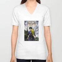 cowboy bebop V-neck T-shirts featuring Cowboy Bebop - A Walk In The Rain by MarioRojas