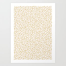 GOLD STARS CONFETTI Art Print