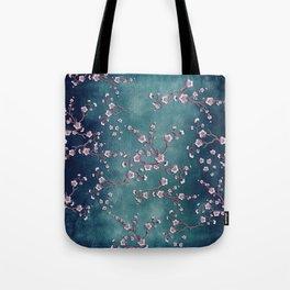 SAKURA LOVE  GRUNGE TEAL Tote Bag