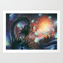 Lovecraft Eye - By Lunart Art Print