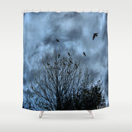 Murder in the Sky Shower Curtain