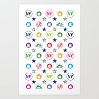 yankees Art Prints featuring New-York Yankees 9/11 Vintage Laptop Skin by Vintage Deco Print Posters