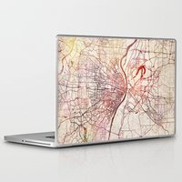 louis Laptop & iPad Skins featuring Saint Louis by MapMapMaps.Watercolors