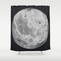 titan Shower Curtains featuring Titan #5 by Tobias Bowman