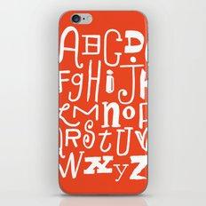 Abecedario iPhone & iPod Skin