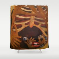 zombie Shower Curtains featuring Zombie by Colleen Nizolek
