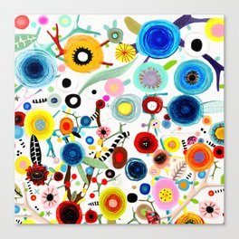Rupydetequila whimsical floral art 2018 Canvas Print