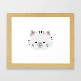 Black and White tiger cat Framed Art Print