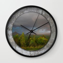 Approaching storm over Australian Landscape Wall Clock