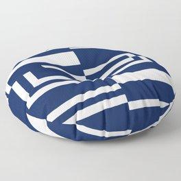 Rectilinear Tangents Galore Floor Pillow