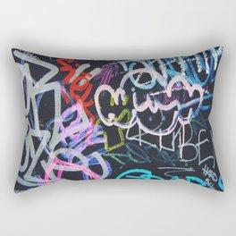 Graffiti Writing Rectangular Pillow
