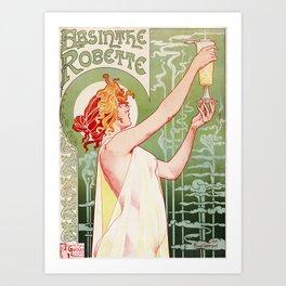 Art Nouveau Absinthe Robette Ad Art Print
