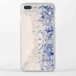 Amsterdam cyclists Clear iPhone Case