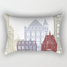 Aachen skyline poster Rectangular Pillow