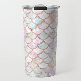 Pastel Memaid Scales Pattern Travel Mug
