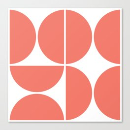 Mid Century Modern Living Coral Square Canvas Print