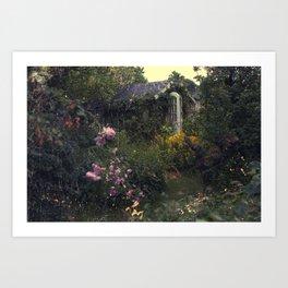 Summerhouse Flower Garden Art Print