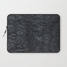 Abstract modern black gray creased paper texture Laptop Sleeve