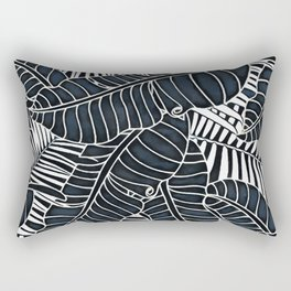 Banana and palm leaves graphics Rectangular Pillow