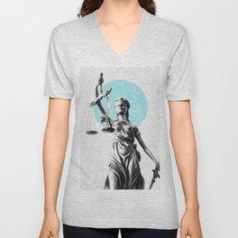Lady of justice Unisex V-Neck