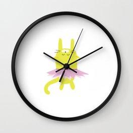 Sleepy Kitty Dancer Wall Clock