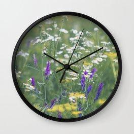 Where the Wildflowers Grow Wall Clock