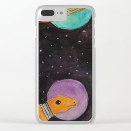 Space Dinosaurs Clear iPhone Case