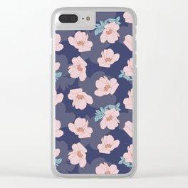 Pink Veronique Clear iPhone Case