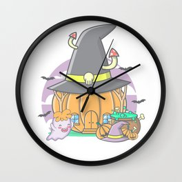 Pumpkin House Scene Halloween | Funny & Great Gift Wall Clock