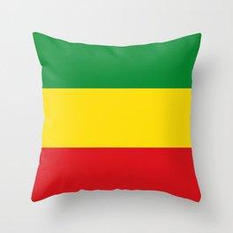 Flag of Ethiopia Ethiopian Rastafarian Flag Throw Pillow