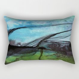 Watercolor Abstraction No.223F by Kathy Morton Stanion Rectangular Pillow