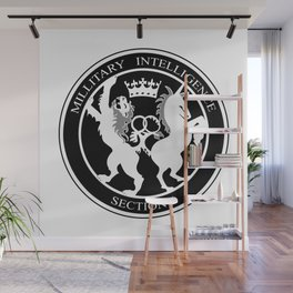 MI6 Logo (Millitary Intelligence Section 6) Wall Mural
