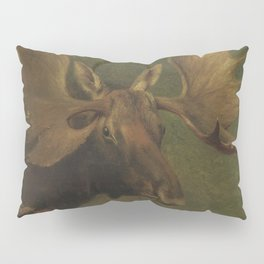 Vintage Painting of a Bull Moose Pillow Sham