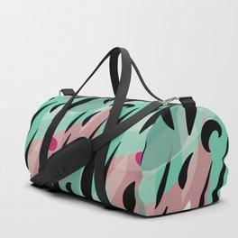 Splatter Burn on Neon Aqua Duffle Bag
