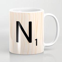 Scrabble Letter N - Large Scrabble Tiles Coffee Mug