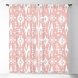 Mid Century Modern Atomic Space Age Pattern Dusty Rose Blackout Curtain