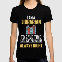 Gift For Librarian. Costume From Kids. T-shirt