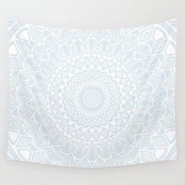 Minimal Minimalistic Light Cool Gray Mandala Wall Tapestry
